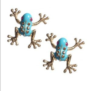 Betsey Johnson frog earrings